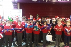 4th, 5th & 6th class Christmas carol singing in Super Valu Gort
