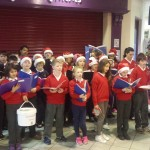 Christmas carol singing in Super Valu Gort