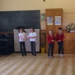 First class children performing during our Irish dancing show