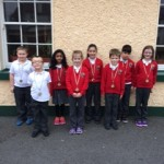 1st-3rd class who participated in a table quiz for Seachtain na Gaeilge