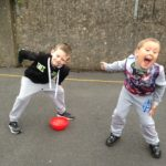 ' PE time with Senior Infants! '