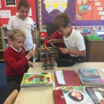 Great fun building our pencil tower!